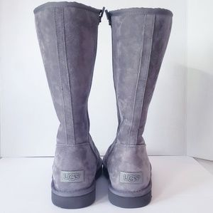 UGG Australia S/N 1016592 Tall Zipper Gray Boot